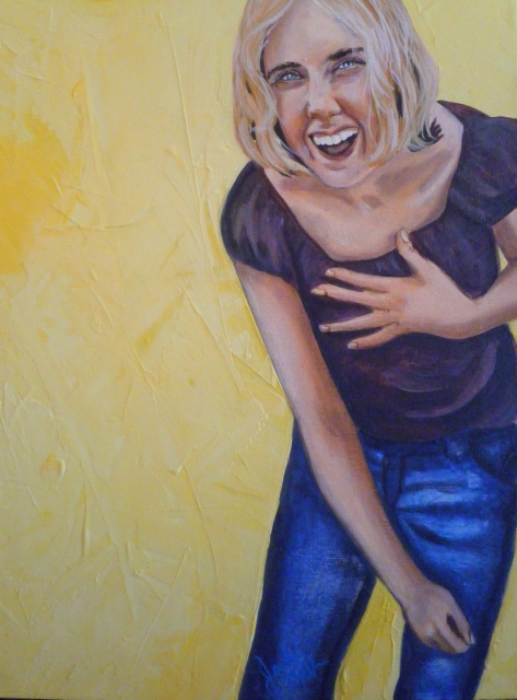 "Laughter 11"" x 14"" Acrylic on canvas Original still availible"