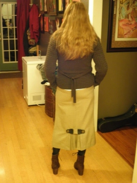 steam punk skirt back